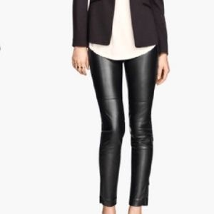 Divided by H&M black faux leather skinny pants
